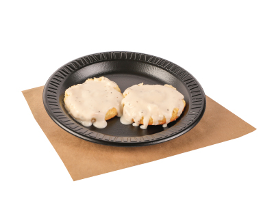 Fresh Baked Biscuit With Gravy