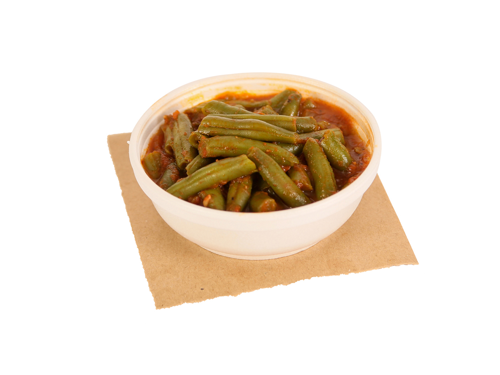 Portion of green beans