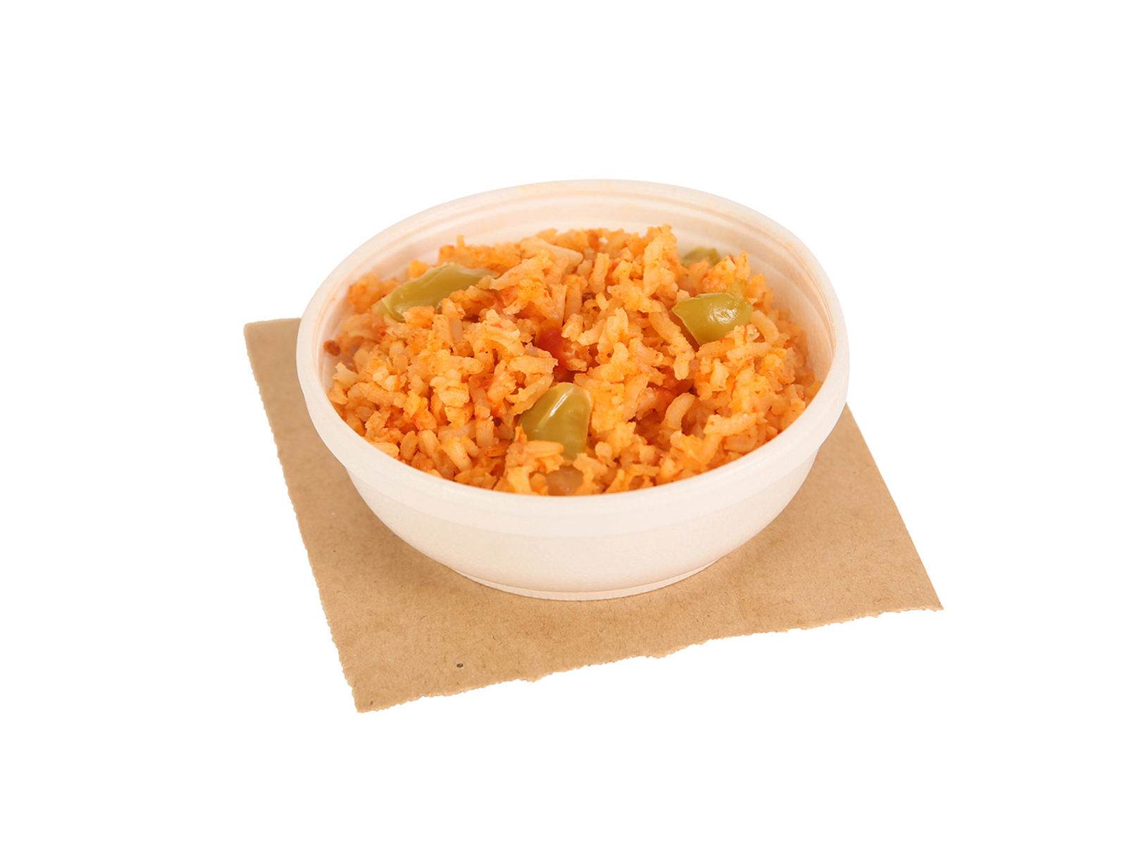 Portion of spanish rice